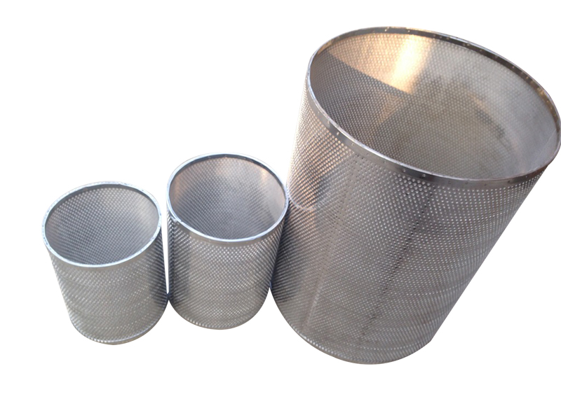 Perforated Stainless Steel Pipe Filter Tube Perforated